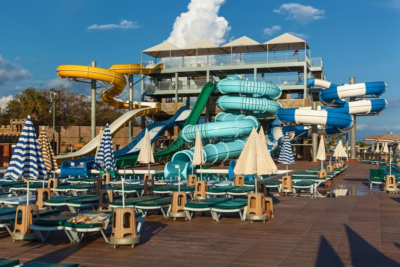 Aquapark fotografering för bildbyråer