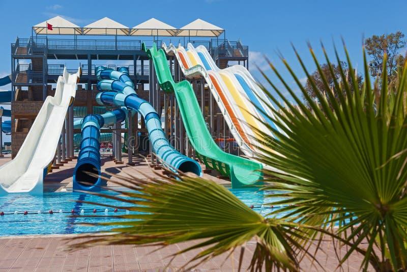 Aquapark arkivfoton