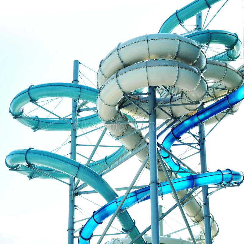 Aquapark royalty-vrije stock foto's
