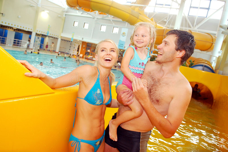 In aquapark stock foto's
