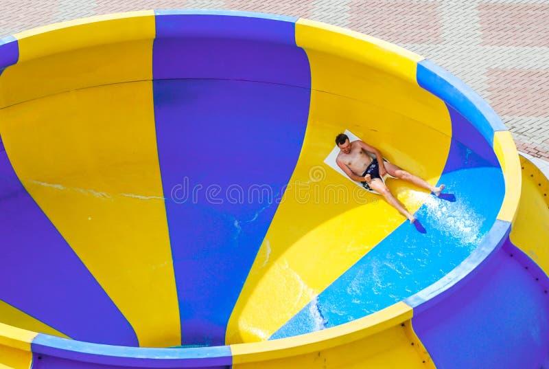 Aquapark in Berdyansk-stad, de Oekraïne royalty-vrije stock afbeelding