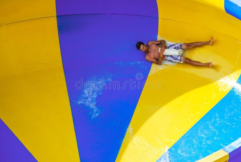 Aquapark in Berdyansk-stad, de Oekraïne stock afbeeldingen
