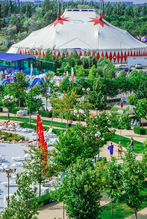 Aquapark en la ciudad de Berdyansk, Ucrania fotos de archivo libres de regalías