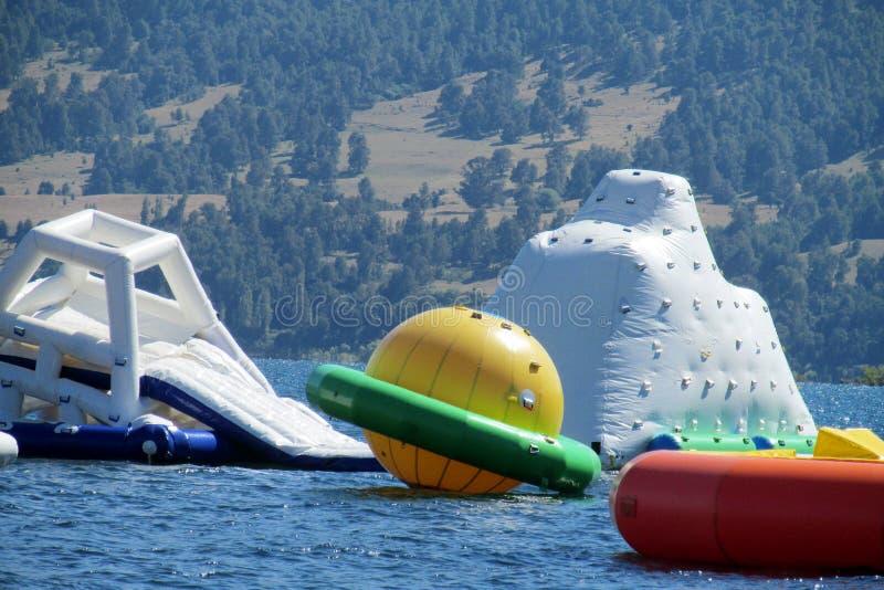 Aquapark inflable fotos de archivo libres de regalías