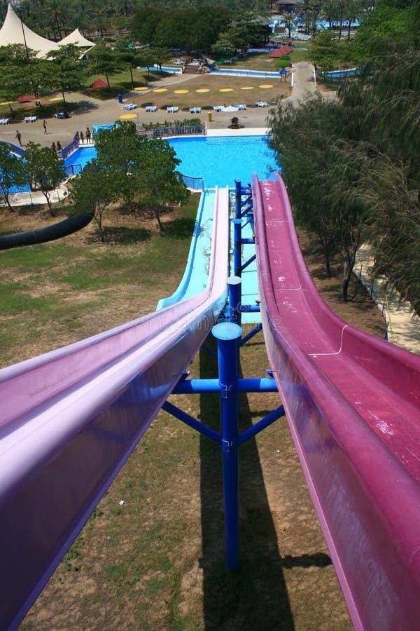 Aquapark van het dromenland stock foto