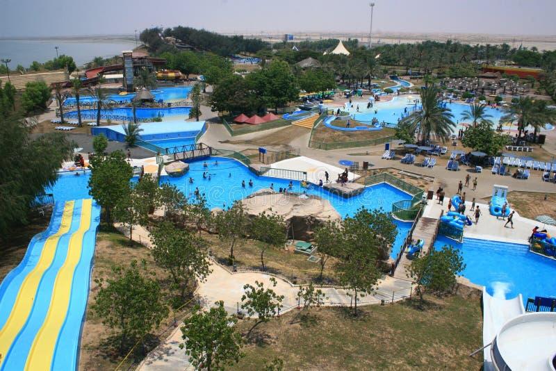 Aquapark van het dromenland royalty-vrije stock fotografie