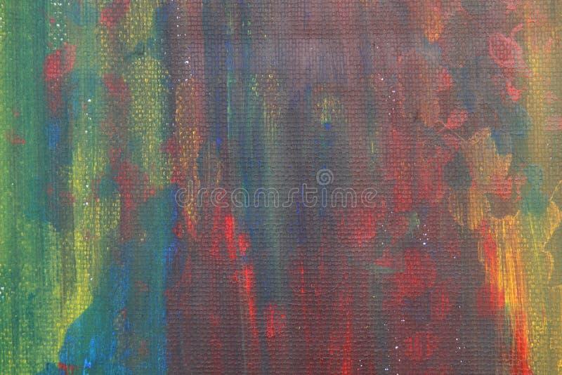 A aquarela abstrata caçoa a arte colorida bonita da pintura fotografia de stock royalty free