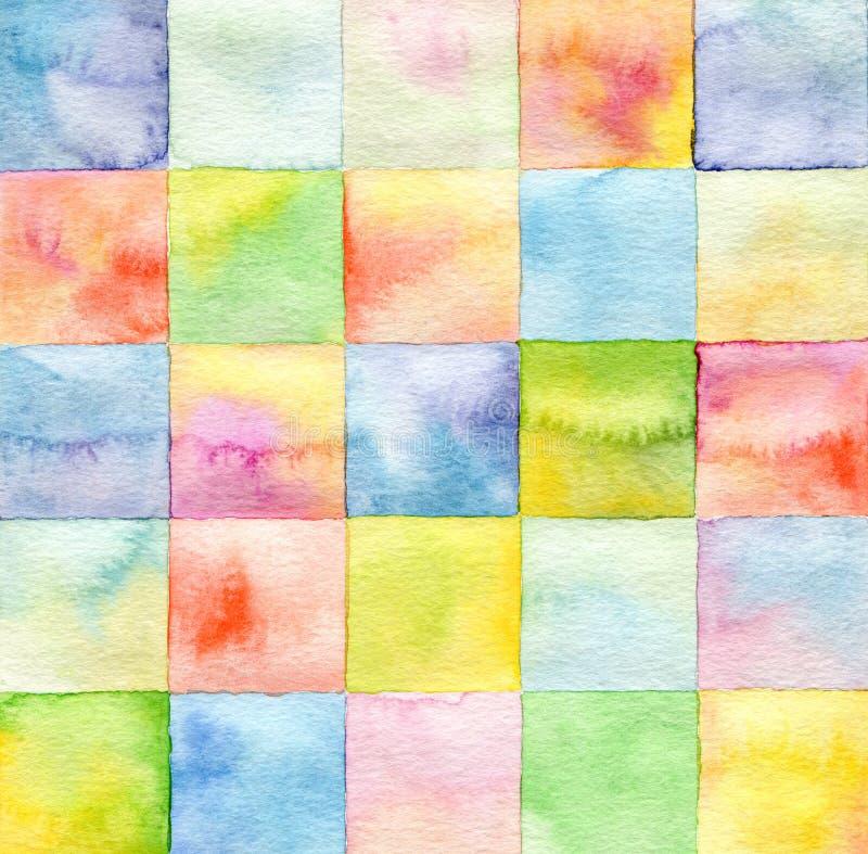 Aquarela abstrata fundo pintado imagens de stock