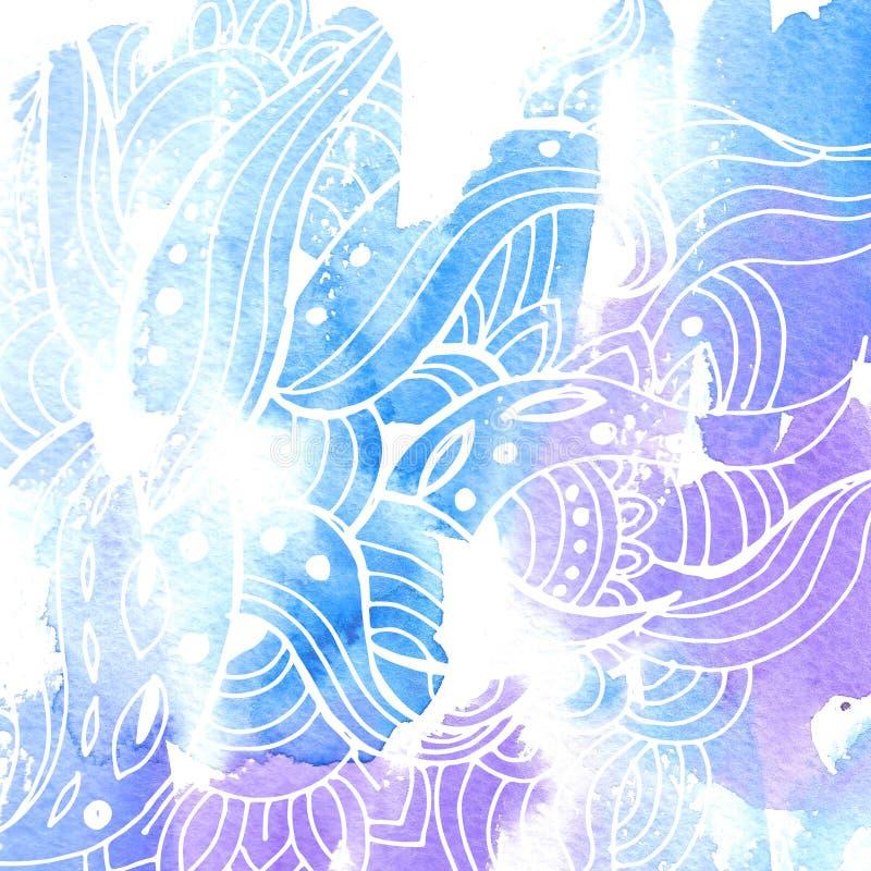 Aquarela background12 ilustração stock