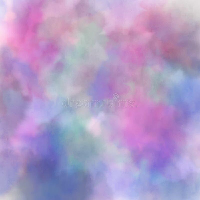 Aquarela colorida abstrata para o fundo, mão de pintura digital tirada imagem de stock