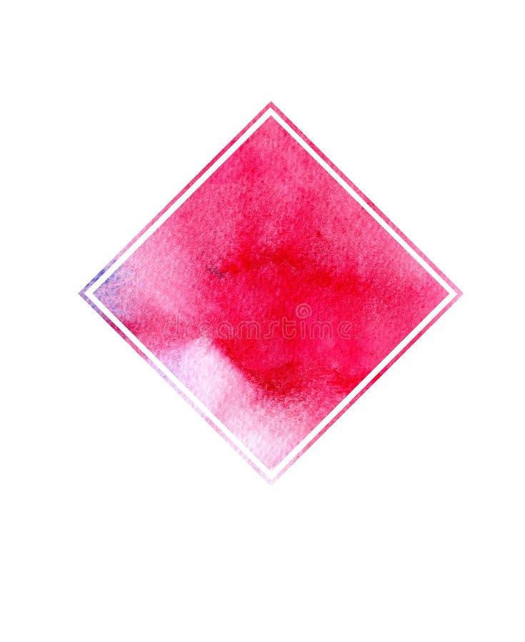 Aquarela colorida abstrata para o fundo Pintura da arte de Digitas foto de stock