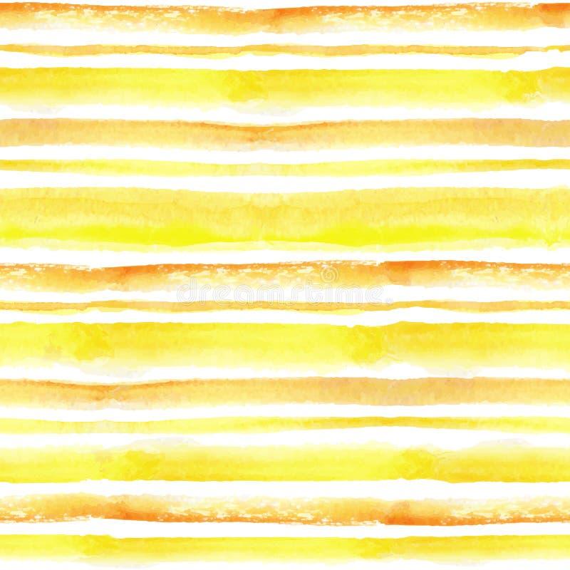 A aquarela descasca o grupo sem emenda do teste padrão Fundo amarelo, alaranjado ilustração do vetor