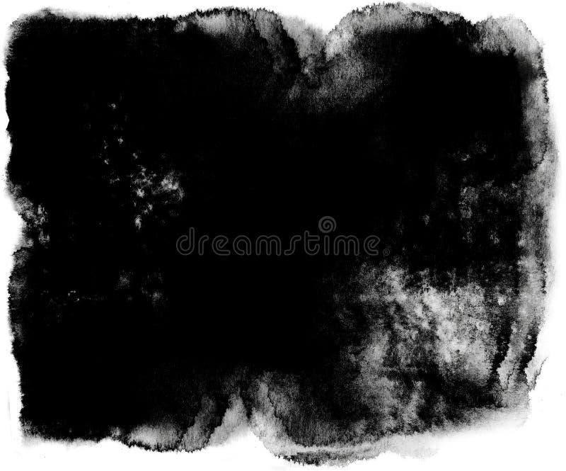 A aquarela do efeito aquoso do Grunge ou a tinta abstrata do líquido chapinham da pintura ilustração stock