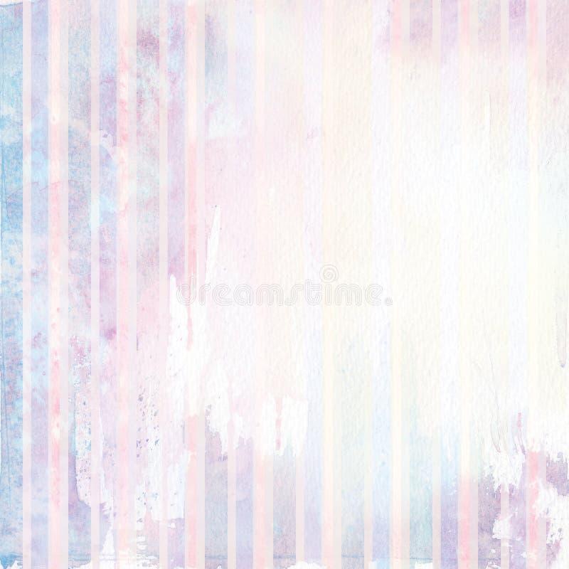 Aquarela fora de fundo listrado da cor ilustração do vetor