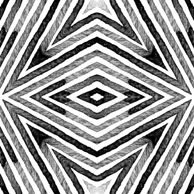 Aquarela geométrica preto e branco escura Dazzlin ilustração royalty free