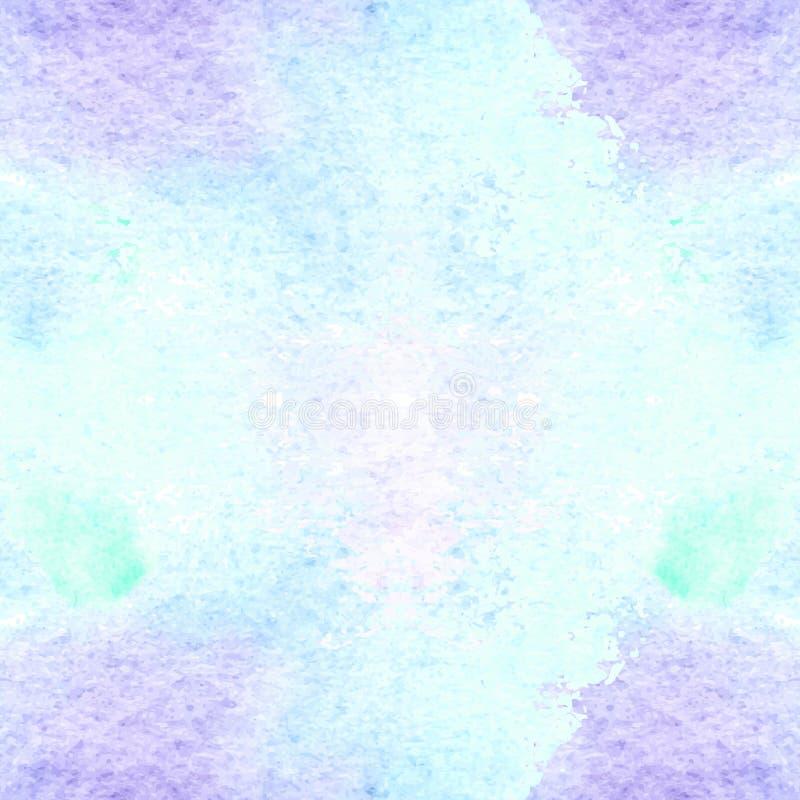 Aquarela sem emenda calidoscópico ilustração stock