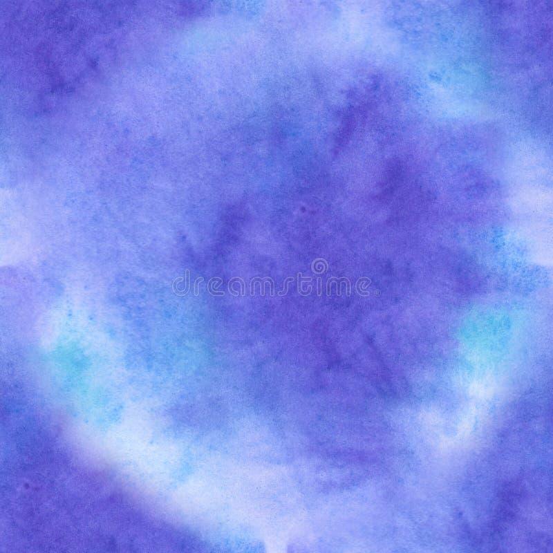 Aquarela sem emenda do ackground do sumário da textura da aquarela azul no papel velho ilustração royalty free