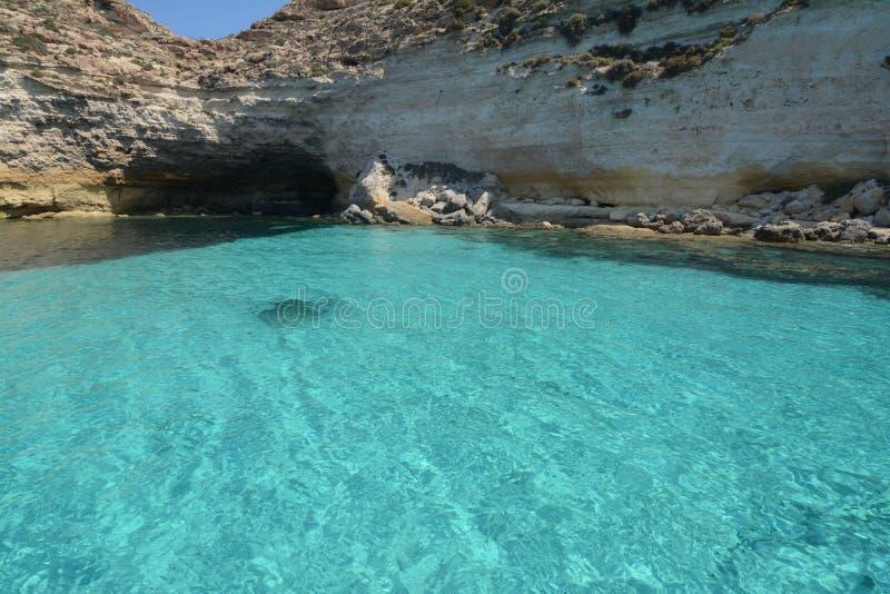 Aquarelas em Lampedusa foto de stock