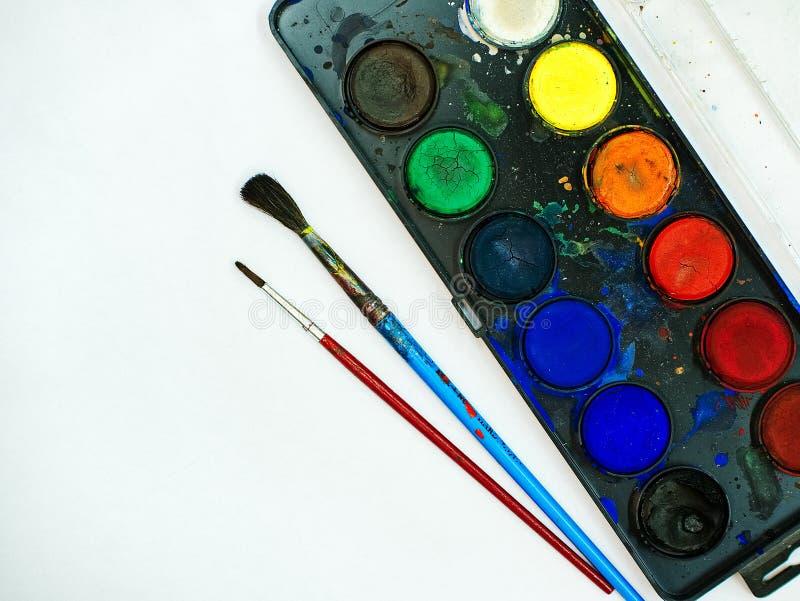 Aquarelas que pintam o grupo foto de stock royalty free
