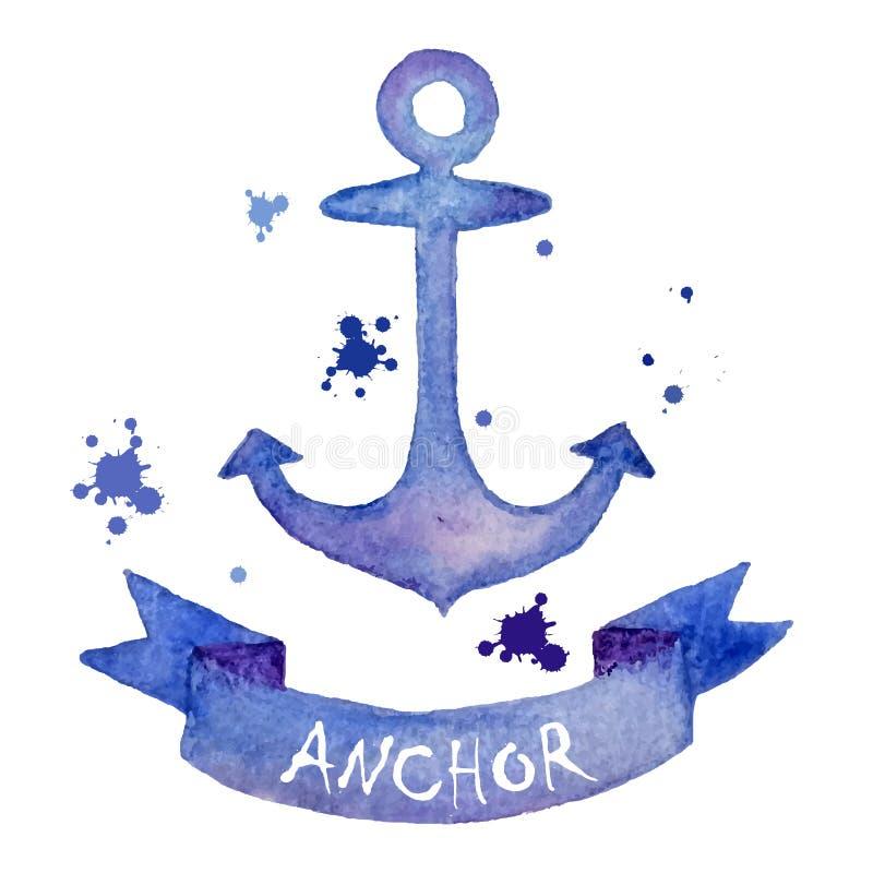 Aquarell-Anker stockbild