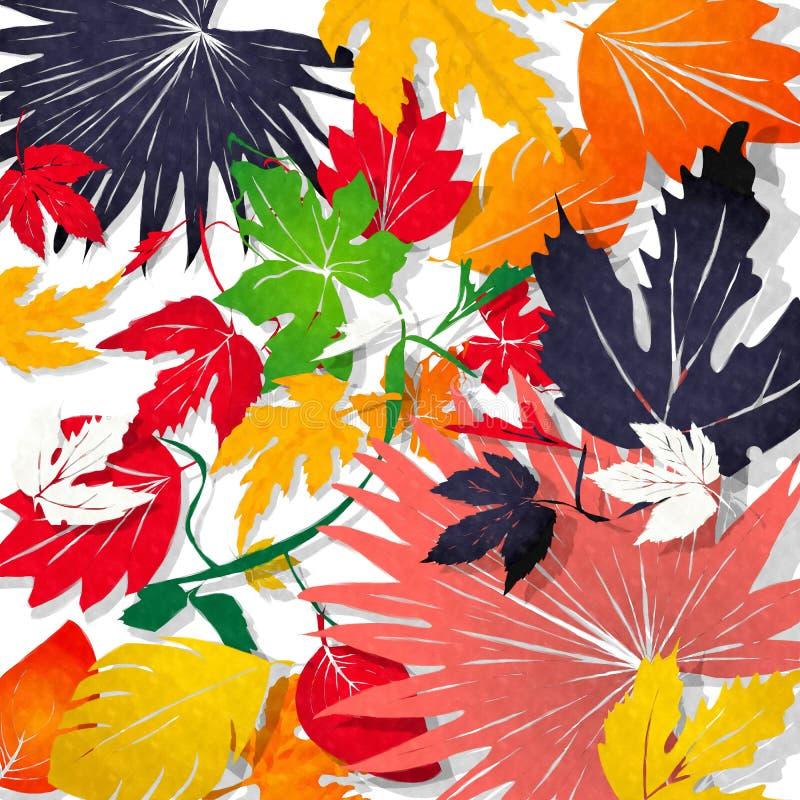 Aquarell-Blätter lizenzfreie abbildung