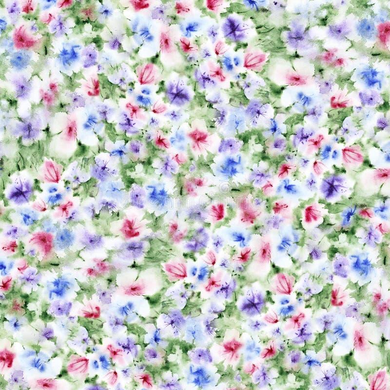Aquarell blüht Hintergrund lizenzfreies stockbild