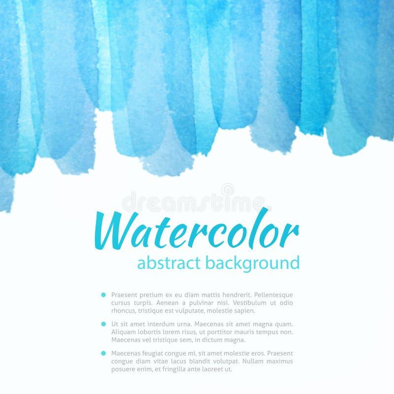 Aquarell-blauer und purpurroter Hintergrund vektor abbildung