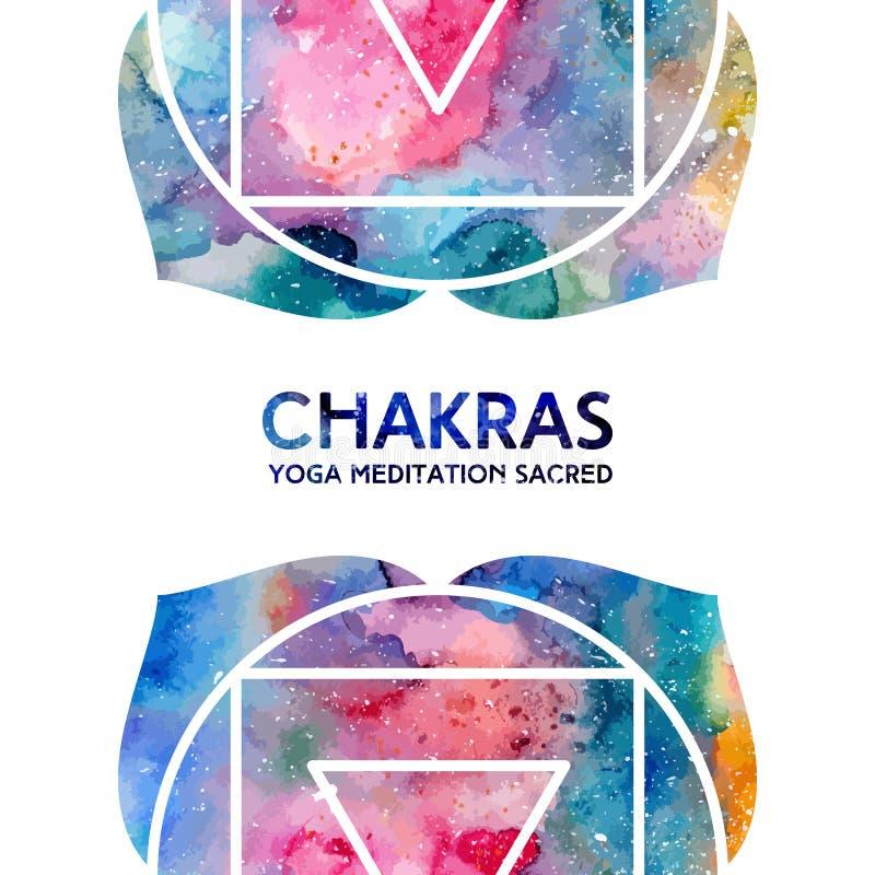 Aquarell chakras Hintergrund lizenzfreie abbildung