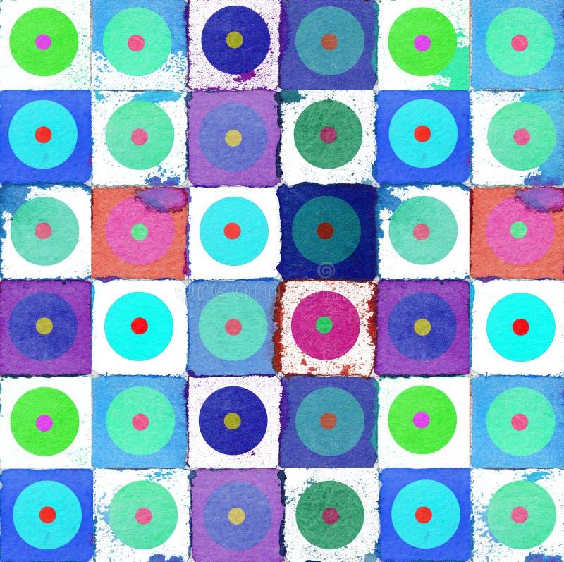 Aquarell der grafischen Auslegung des Hintergrundes lizenzfreie abbildung