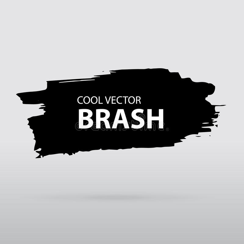 Aquarell färgpulverfärgstänk Svartvit vektorborste i grå backg vektor illustrationer