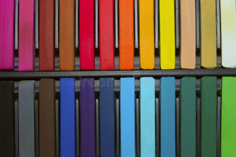 Aquarell-Farben, schließen oben Bunter Hintergrund stockfoto