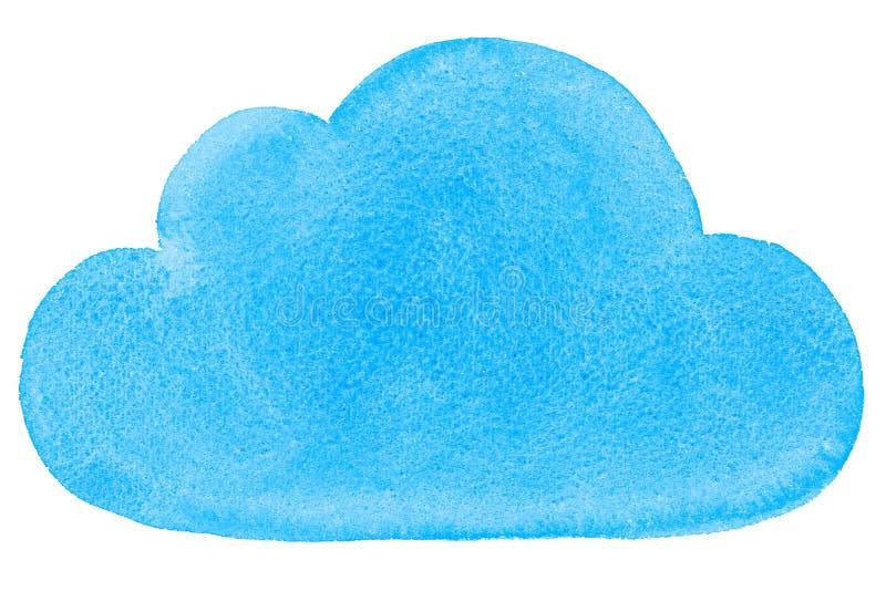 Aquarell gemalte Social Networking-Wolke blau vektor abbildung