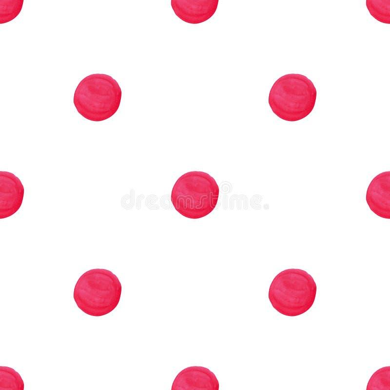 Aquarell-handgefertigte Polka Dot Seamless Pattern lizenzfreie abbildung