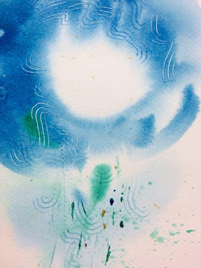 Aquarell helles blue stockfotografie