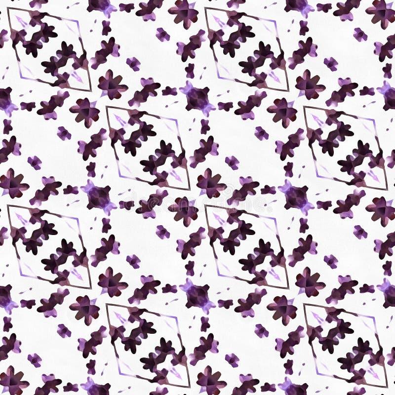 Aquarell-Kaleidoskop-tiefer Kreis lizenzfreies stockbild