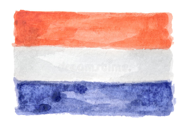 Aquarell lokalisierte Flagge stockfotografie