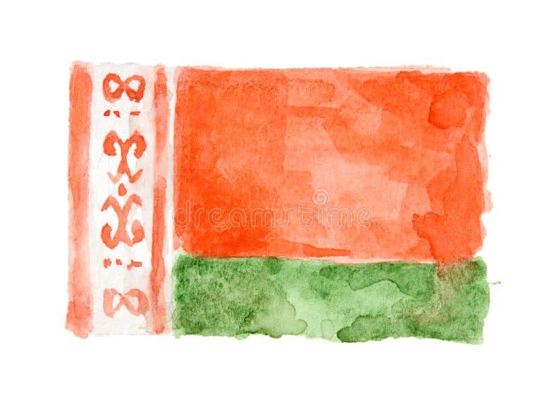 Aquarell lokalisierte Flagge lizenzfreies stockbild
