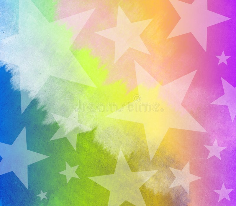 Aquarell-Tye gefärbte Sterne lizenzfreie abbildung