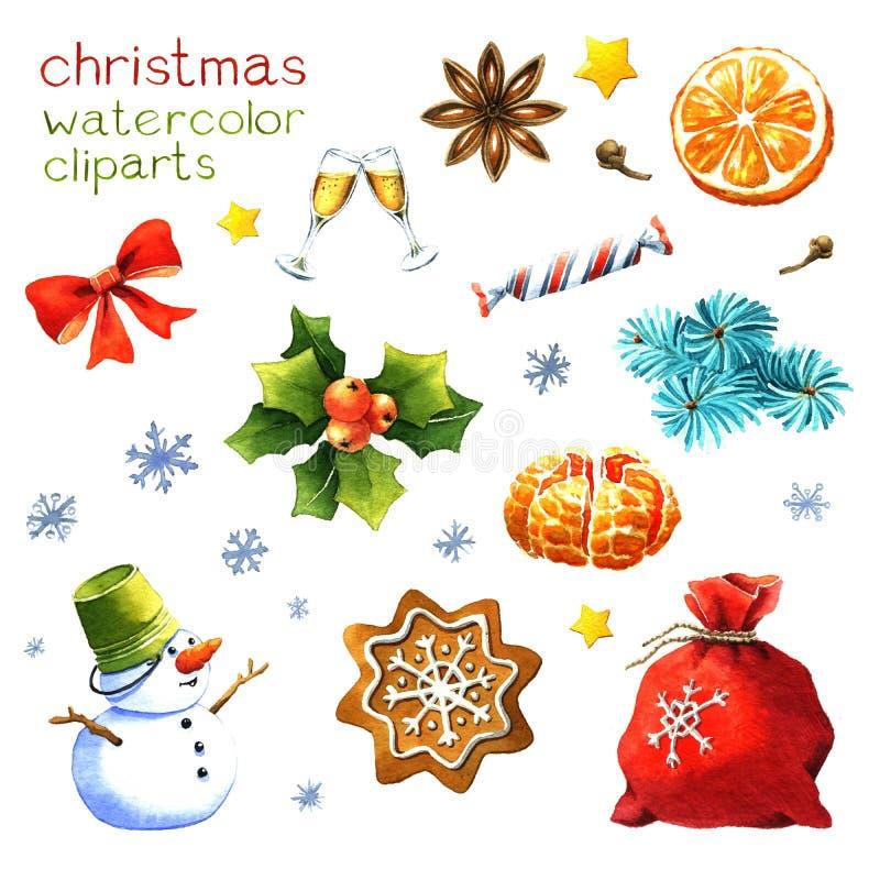 Aquarell weihnachten clipart stock abbildung - Aquarell weihnachten ...