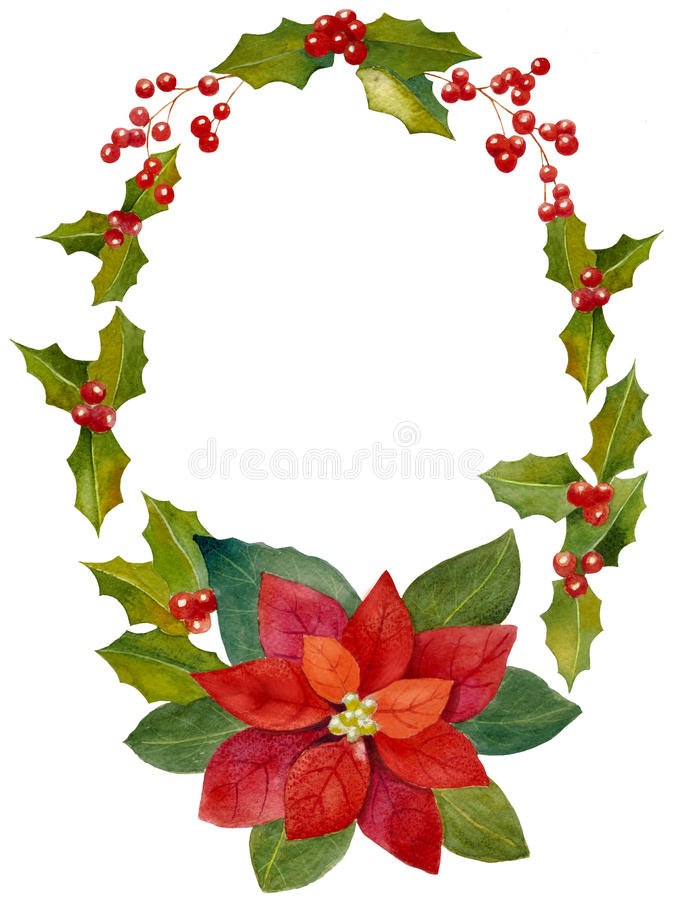 Aquarell-Weihnachtselemente lizenzfreie stockbilder