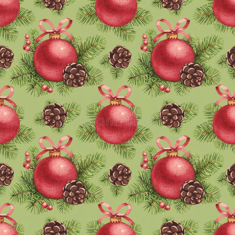 Aquarell-Weihnachtsmuster vektor abbildung