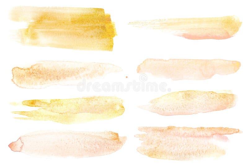 Aquarellbürstenanschlag lokalisiert über dem weißen Hintergrund als abstraktes Gestaltungselement vektor abbildung