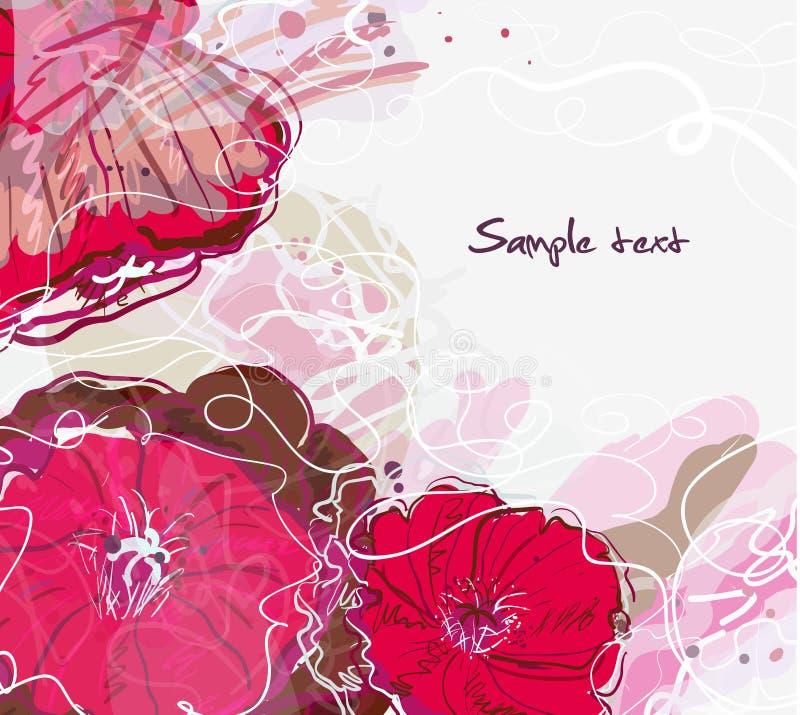 Aquarellblumenhintergrund stock abbildung