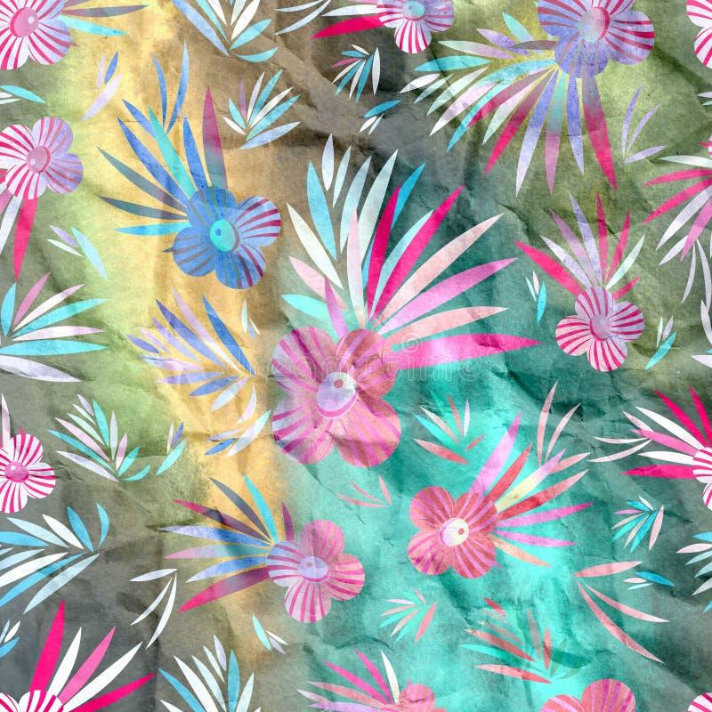 Aquarellblumenmuster stock abbildung