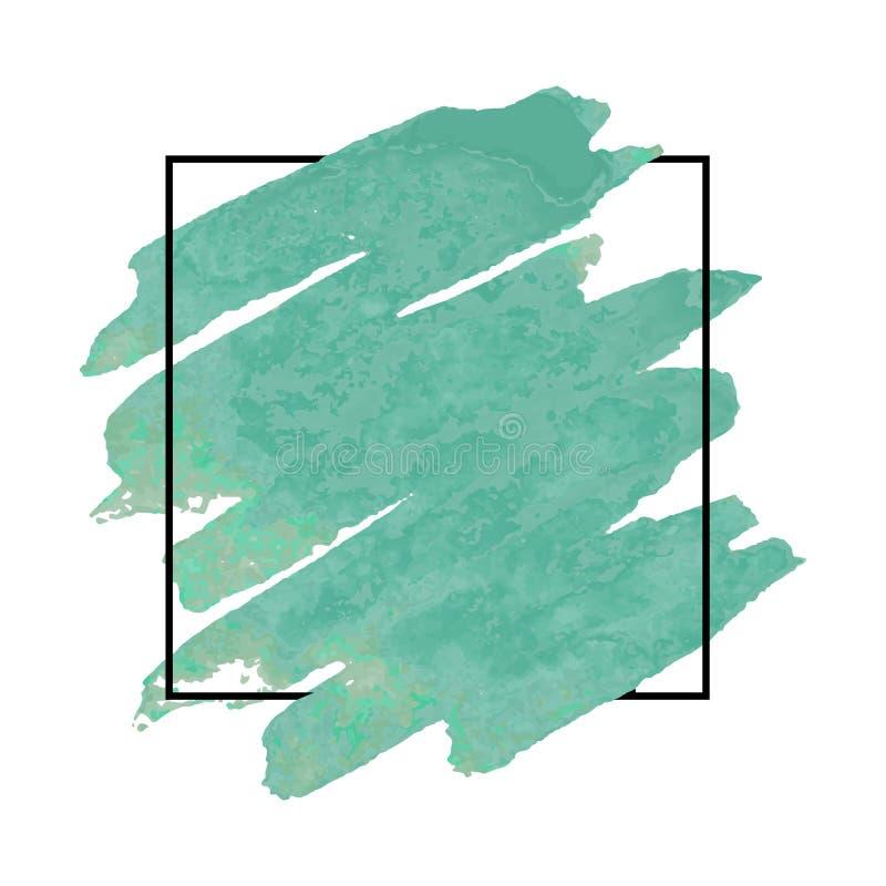 Aquarelldesign für Schlagzeile, Logo und Fahne lizenzfreie abbildung