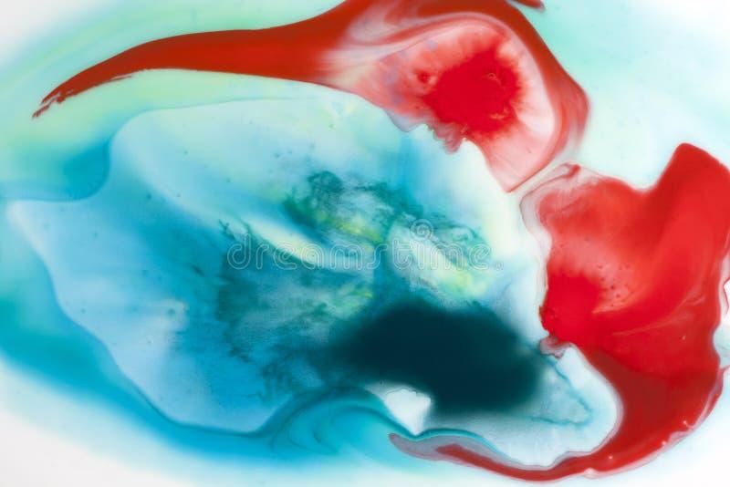 Aquarelle bleue abstraite à l'arrière-plan de l'eau images libres de droits