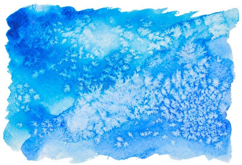 Aquarelle bleue colorée photos libres de droits