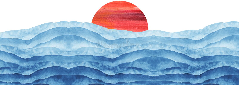Aquarelle bleue et rouge abstraite La couleur ?claboussant sur le papier Rose de tache d'?claboussure d'aquarelle Tache abstraite photos libres de droits