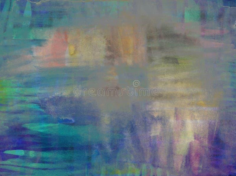 Aquarelle colorée abstraite pour le fond illustration stock
