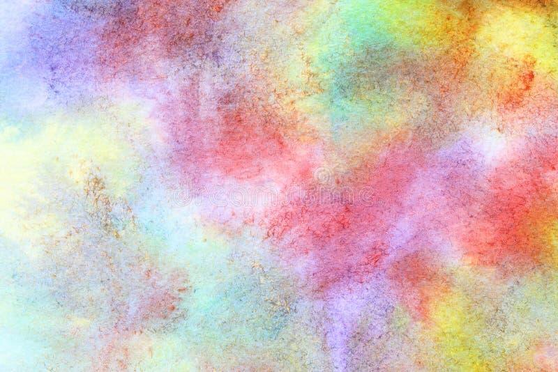 Aquarelle colorée tirée par la main illustration stock